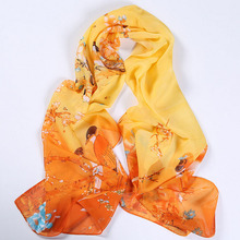 LNRRABC Women Scarves Chiffon Girl Wraps Floral 20styles Bandana Printing Thin Shawl Spring Summer Sunscreen Beach Scarf
