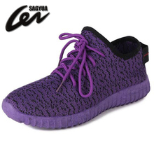 SAGYUA New Youth Women HOT Autumn Lightweight Breathable Air Mesh Casual Shoes Female Flat Leisure Mujer Zapatillas NO LOGO Z003