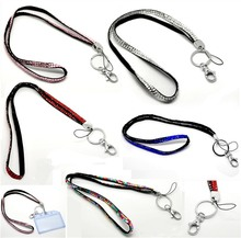 1pcs New Product Bling Bling Lanyard Crystal Rhinestone Lanyard in Neck with Claw Clasp For ID Badge Holder Key Holder