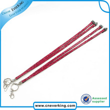 Free shipping 100 pcs/lot Rhinestone Lanyard with shining rhinestones(China)