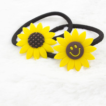 New arrival  novelty Floral Flower sunflower children Elastic Hair Band Headband Hair Accessories