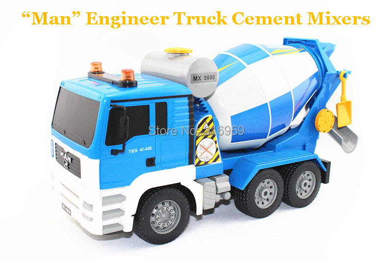 New 360 Rotate Cement Mixer Truck 6 Channel RC Agitating Lorry Truck Project Engineering Mixer Truck Electronic toys