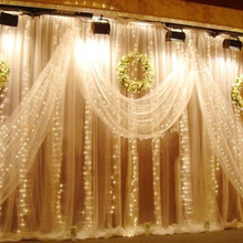 6m Icicle LED Curtain Lights LED STRING Fairy Lights Cortina De Led Christmas Lights Outdoor/Indoor Garlands Wedding Decorations
