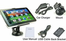 "7"" Car GPS Navigation 256M 8GB Touch Screen Sat Nav FM Transmitter Bundle free maps(China)"