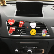 Acrylic Automotive Styling perfume Clip Lovely big tongue Air Conditioning decoration perfume Ladies car air freshener Ornaments