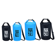 New 2 colors Outdoor PVC Waterproof Dry Sack Storage Bag Rafting Sports Kayaking Canoeing Swimming Bag Travel Kits 10L 20L
