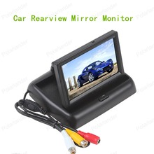 hot sell 480x 272 4.3 Inch Car Parking Monitor HD Rear View Mirror Monitor with Car reverse backup Camera reversing priority