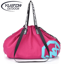 YUETOR Large Big Capacity Holdall Outdoor Travel Handbag Canvas Gym Bag Yoga Mat Bag Sports Bags Sport Women Fitness Bag