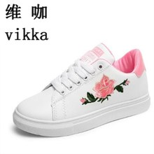 Hot sales new 2017 spring autumn with Designer female Canvas shoes shopping sport party ladies footwear Casual Embroidery shoes(China)