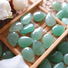 Natural stone loose bead aventurine quartz beads 13*18mm drop shape  for jewelry pendant making IB2425