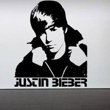 Home Decor Adesivo De Parede Justin Bieber Quarto Art Vinyl Decal Mural  Crianças Quarto Mural Auto Adesivo Removível Papel De Pa. Part 37