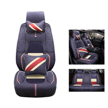 Cloth Flax car Seat Covers set For Chrysler Sebring 300C PT Cruiser grand voyager Crossfire Regal car-styling auto accessories(China)