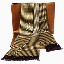 Fashion Brand New Mens 100% Silk Long Scarf Cravat Scarives Double Layer M718#__Great  Gifts