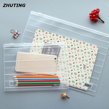 A4 / A5 pull blade transparent matte plastic bill file bag file product stationery file protection bag