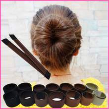 SP&CITY Hair Accessories Wig Donuts Bud Women Head Band French Twist Magic DIY Tool Bun Maker Sweet French Dish Made Hair Band