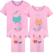 2017 Summer T-shirts for family matching mother daughter clothes father and son clothing outfits family look Short Sleeve Cotton(China)
