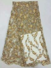 Latest design of Nigeria and rhinestone quality stretch lace, African MY399 factory price ultra-thin net lace fabric