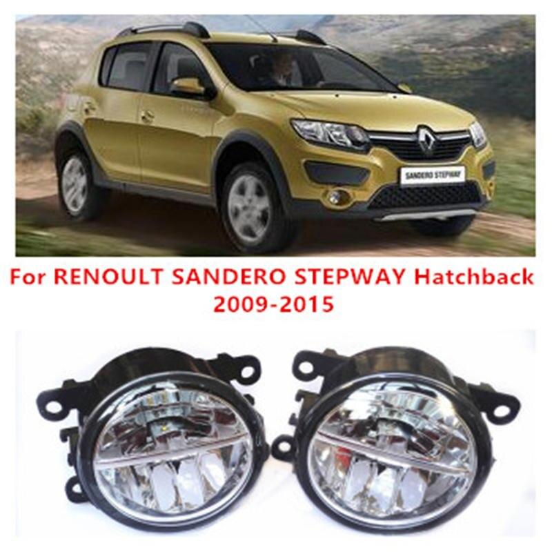 For RENOULT SANDERO STEPWAY Hatchback  2009-2015 10W Fog Light LED DRL Daytime Running Lights Car Styling<br><br>Aliexpress