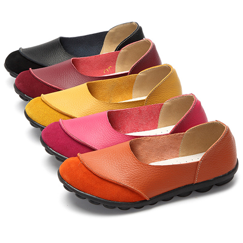 Plus Size 43 Women Flats Woman Loafers Candy Color Slip on Flat Shoes Cow Suede Flats Comfortable Ladies shoes zapatos mujer(China)
