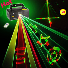 New IR Remote DMX 512 Mini 400mW RGY Full Color Laser Stage Lighting Scanner DJ Dance Party Show Projector Lights