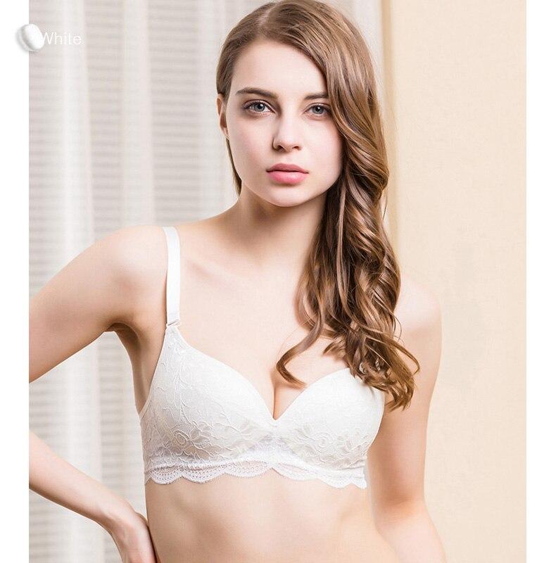 Women Lace Bras Wireless Bralette Seamless Bra Push up 100% Natural silk underwear deporte sujetador reggiseno Free shipping 4