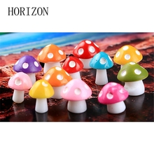 New Style Resin Craft Micro Landscape Decoration Fashion Cute Mini Mushrooms Home Decorative Crafts 8 Colors For House Decor