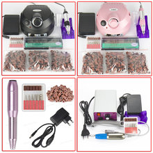 30000 RPM Black Professional Electric Nail Drill File Manicure Manicure Kit 220V Nail Art Tools For Nail Gel