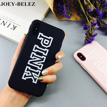 For iPhone X Case Pink Color Luxury Soft TPU Rubber Cover For iPhone X 8 6 6S Plus 7 Plus Case Silicone For iPhone 6S Case Leaf(China)
