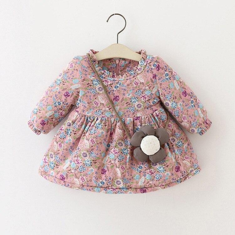Mamimore Cute Flower Girls Dress 2017 Princess Baby Girls Dresses Clothing Long Sleeve Cotton For Kids vestido infantil Pink<br><br>Aliexpress