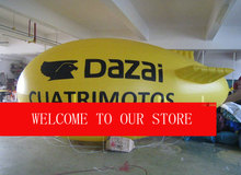 13ft Yellow Inflatable Advertising Airship/Inflatable Blimp/Solid color with Big letters LOGO for Events(China)