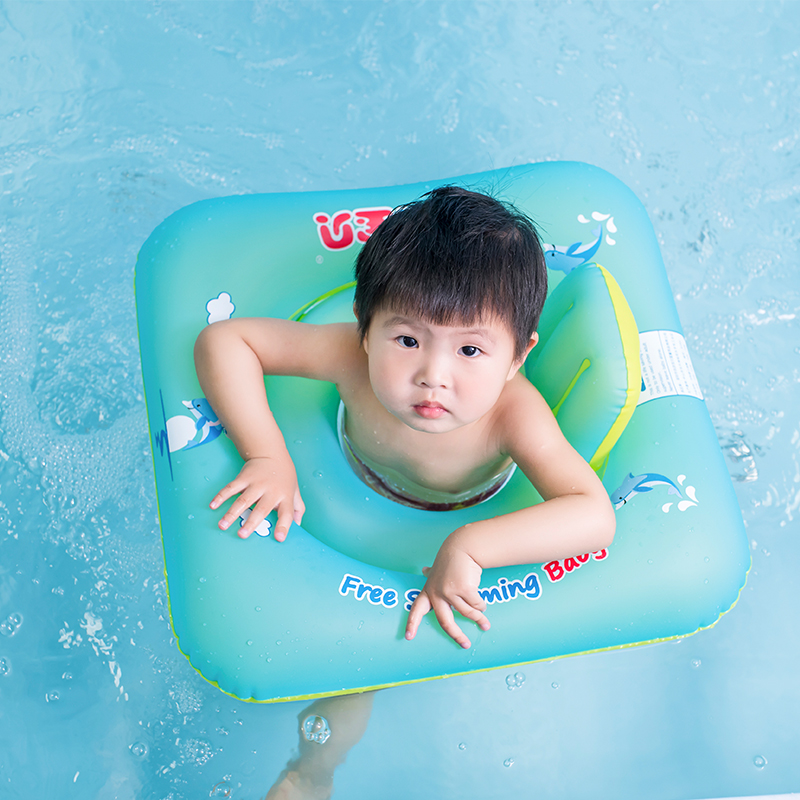 New Baby Seat Floating Inflatable Baby Swim Ring Kids Swimming Pool Accessories Children's Toys Square Bathing Inflatable Raft(China (Mainland))