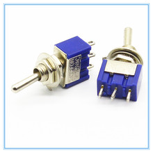 5 Pz ON-OFF-ON/ON-ON 3 Pin 3 Posizioni Mini Latch Toggle Switch AC 125 V/6A 250 V/3A(China)