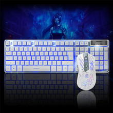 Best Price LED Gaming Wired 2.4G keyboard And 3200DPI Mouse Set to Computer Multimedia Gamer(China)