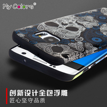 For Samsung Galaxy S7 Case Luxury 3D Relief Painting Brand Back Cover case For Galaxy S7 edge Phone Protector accessories(China)