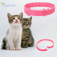 prativerd Hot Adjustable Pet Collar Cat Protection Neck Ring Flea Tick Mite Louse Remedy Coleira Para Gato for Free Shipping