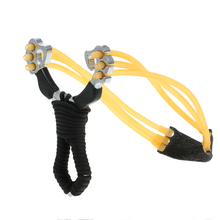 Powerful Hunting Slingshot With Rubber Band High DensityCatapult Professional Tactical Zinc Alloy Pocket Sling Shot Ball