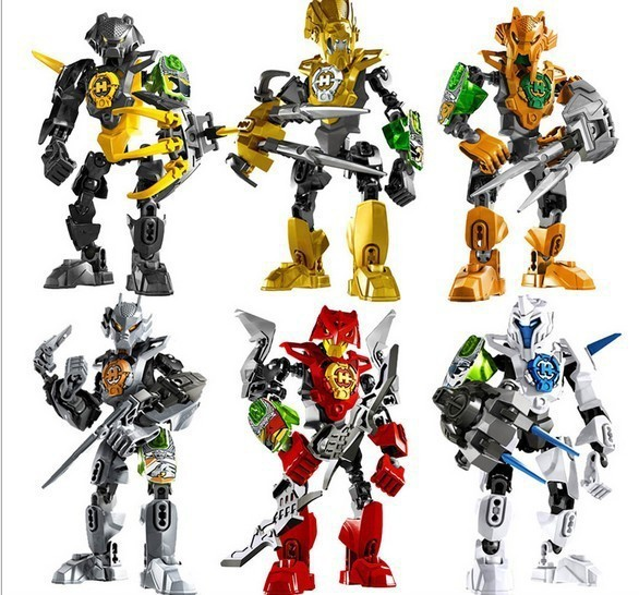 6pcs/lot 96B Hero Factory 3.0 Star Soldier NEX/AULK/FRNO/STRINGER/STORMER 3D DIY action doll block toys for children(China (Mainland))
