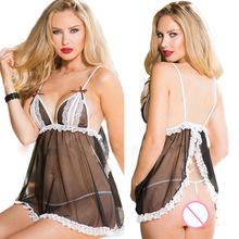 Buy Laddies sexy lingerie erotic underwear set maid costume open bra crotch lace sexy nightdress sleepwear lengerie sex