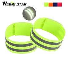 Buy Weimostar 1 Pair Cycling Bands Reflective Strip Warning Bike Safety Tape Outdoor Bicycle Bind Pants Band Leg Strap Wristband for $2.79 in AliExpress store
