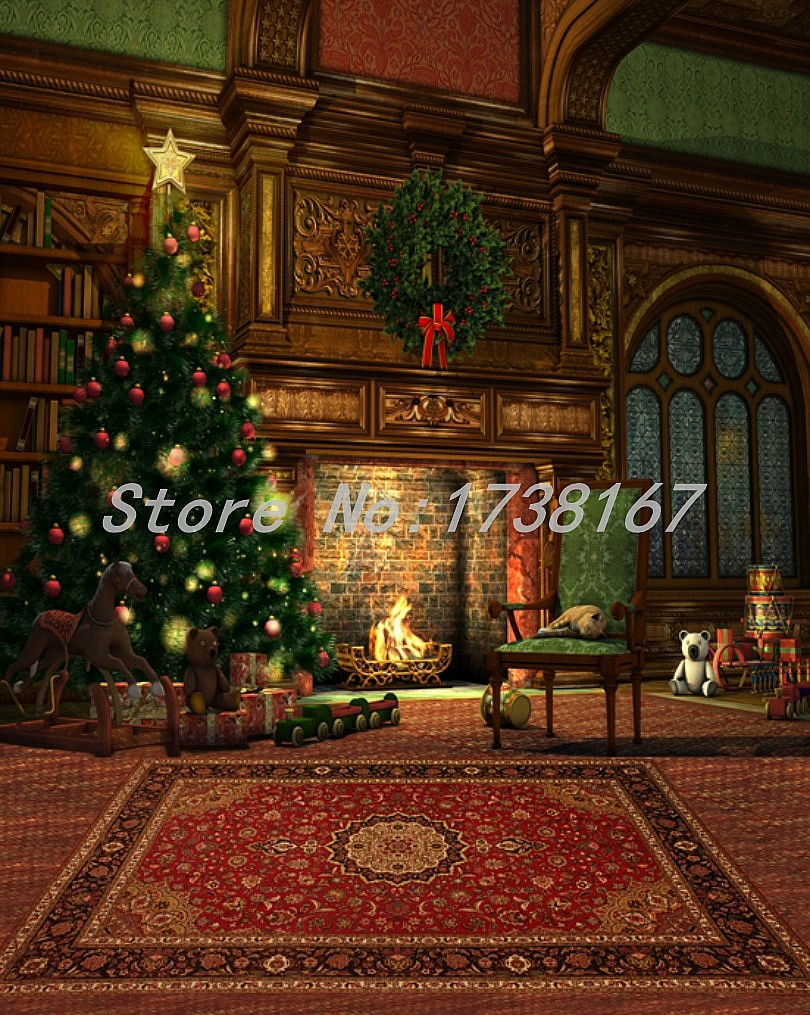 2015 New Newborn  Photography Background Christmas Vinyl  Backdrops 200cm *300cm Hot Sell Photo Studio Props Baby L852<br>