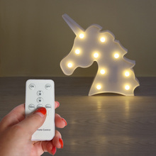 DELICORE Lovely Marquee Night Light With Remote Control , remote control without electronic S151(China)