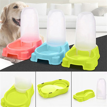 27.5 * 17.7 * 25 cm Large Automatic Pet Food Water Feeder Pet Supplies Pet Dogs Cat Dish Bowl Tools Bowl Dispenser 2017 New(China)