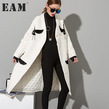 Buy EAM 2018 New Temperament Woollen Overcoat Two-sided Embroidery Woolen Big Coat Women Fashion HA04202S for $52.20 in AliExpress store