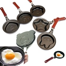 DUOLVQI Mini Egg Pancake Frying Pan Cute Creative Kitchen Tool Cooker Non-Stick Pot Egg Cartoon Egg Pan Kitchen Accessories(China)
