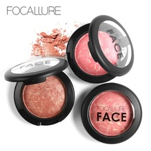 Focallure Natural Baked Face Pressed Blush Rouge Makeup Cheek Blusher Palettes Mineral Blusher Palette Cream Blush(China)