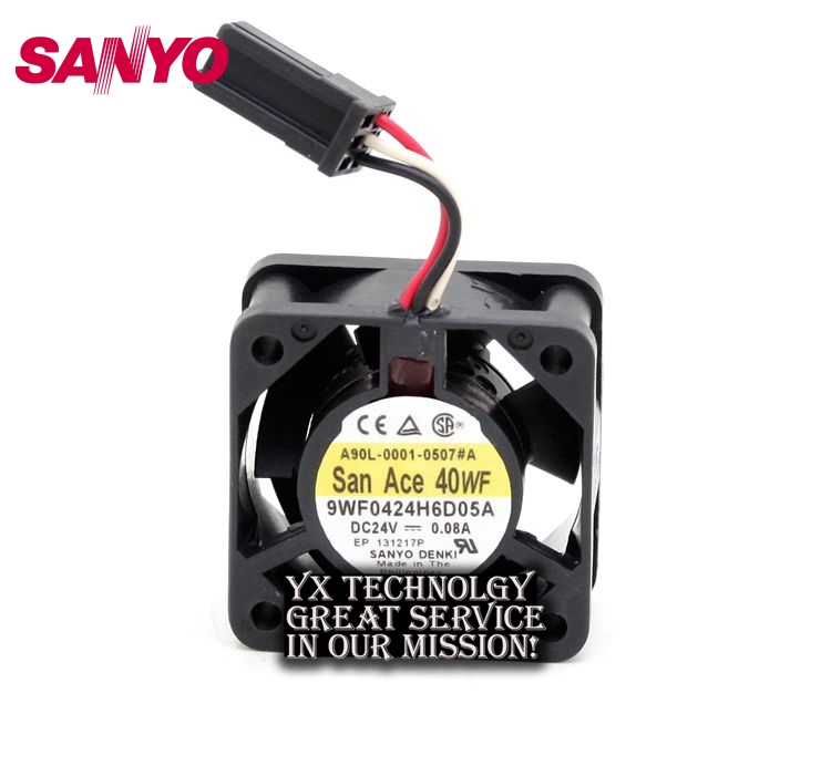 SANYO  New and Original 9WF0424H6D05A 24V 0.08A Fanuc dedicated fan for  40 * 40 * 20mm<br>