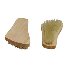 Wooden Handled Boar-Bristle Brush Natural Bristle Wood Hand Beechwood Foot Brush Foot Scrubber Brush Massager Slippers B(China)