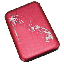 "Hot 2.5"" Flower External Hard Drive Disk USB 2.0 SATA HDD Case Box Enclosure Red"