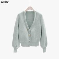 YAGENZ-Spring-Sweater-Cardigan-Coat-Female-College-Winds-Outside-Sweater-V-neck-Lantern-Sleeve-Short-Knitted.jpg_200x200