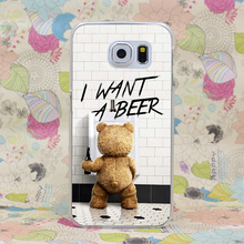 1651-GOP Ted  I want a beer Hard Case Cover for Galaxy S2 S3 S4 S5 & Mini S6 S7 Edge Plus